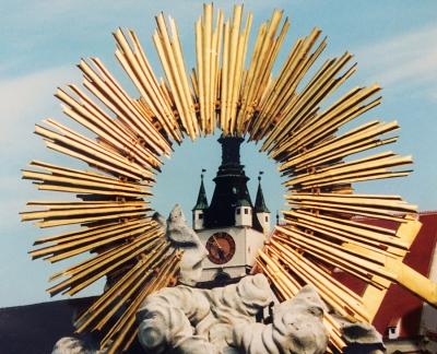 Strahlender Abschluss. Krems. Fotografiert von Dietmar Kurzmann.