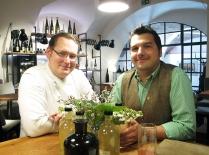 Erwin Windhager ist der Küchenchef. Hartmuth Rameder der Gastgeber.